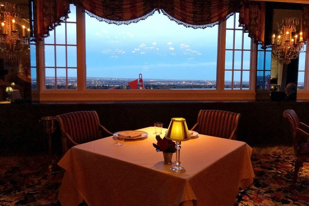 Dinner at the Penrose Room overlooking the mountains