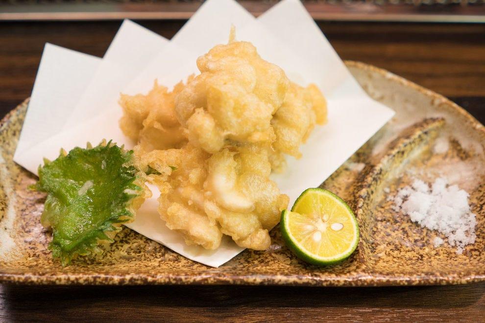 Shirako tempura