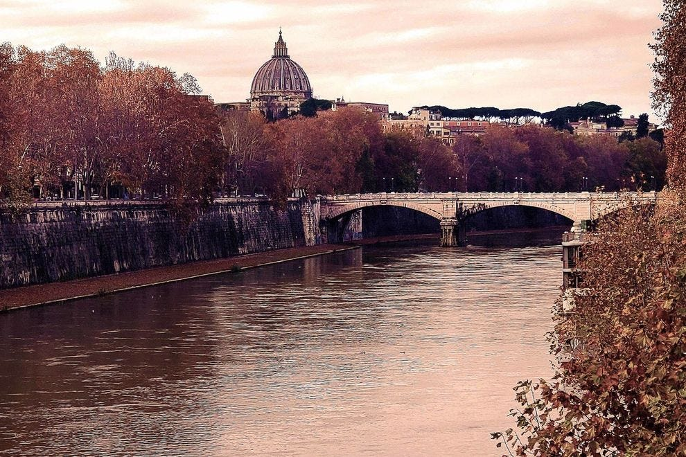 View of beautiful Rome