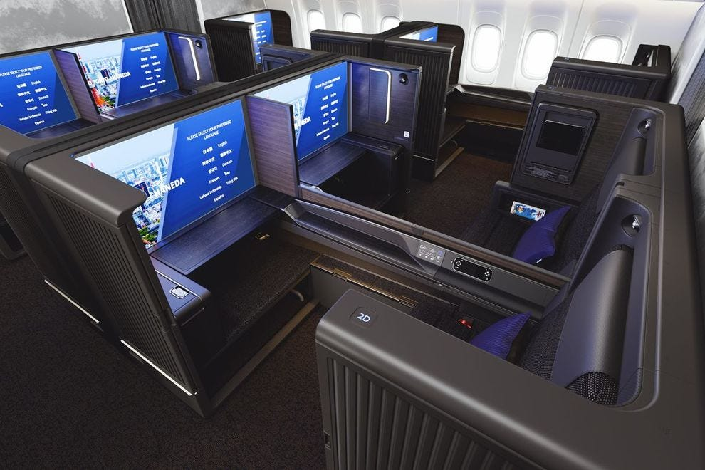 Privacy is a big benefit in this first class experience