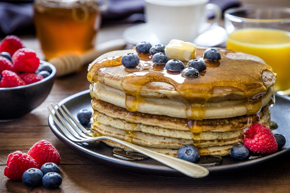 Make fluffy, airy pancakes by adding some sourdough starter