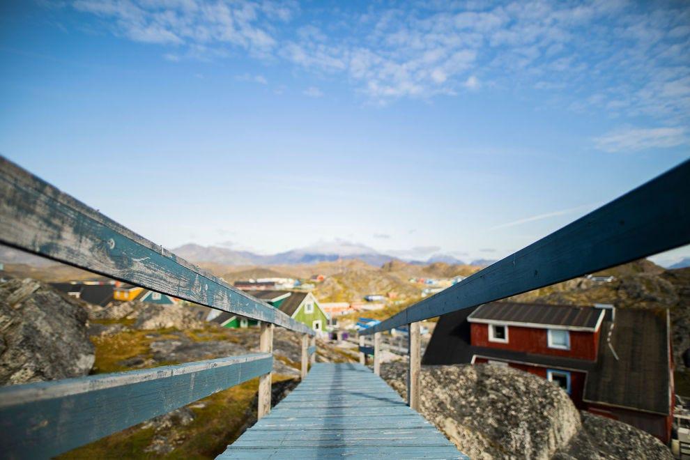 Wooden Bridge in Paamiut