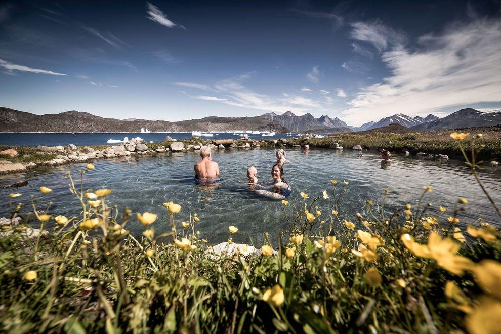 Uunartoq hot springs in South Greenland