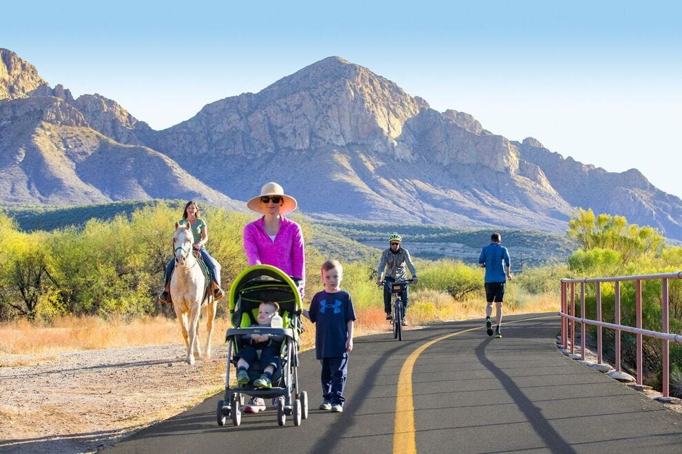 Tucson visitors and locals can get outdoors on this 130-mile loop