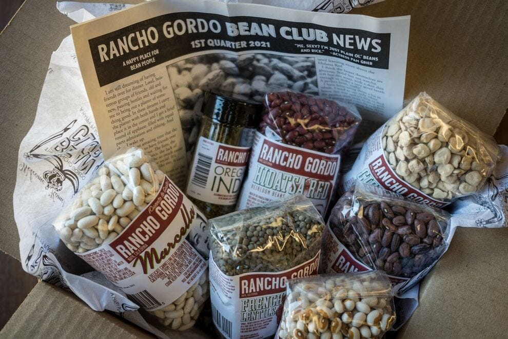 The Rancho Gordo Bean Club