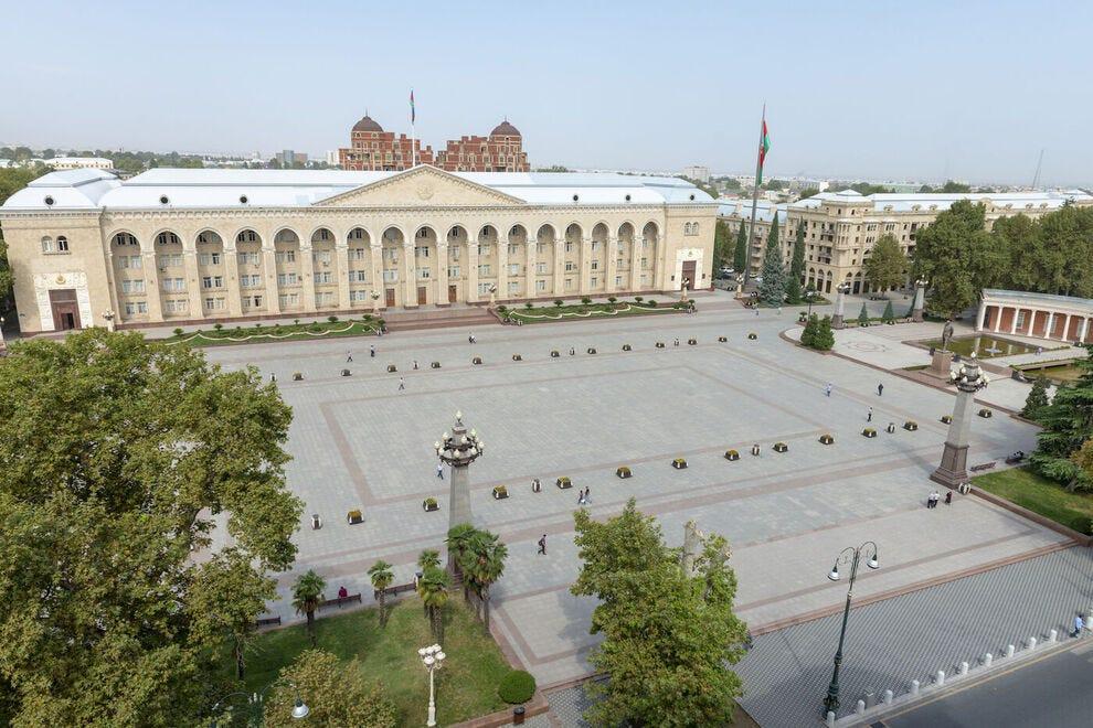 Central square in Ganja