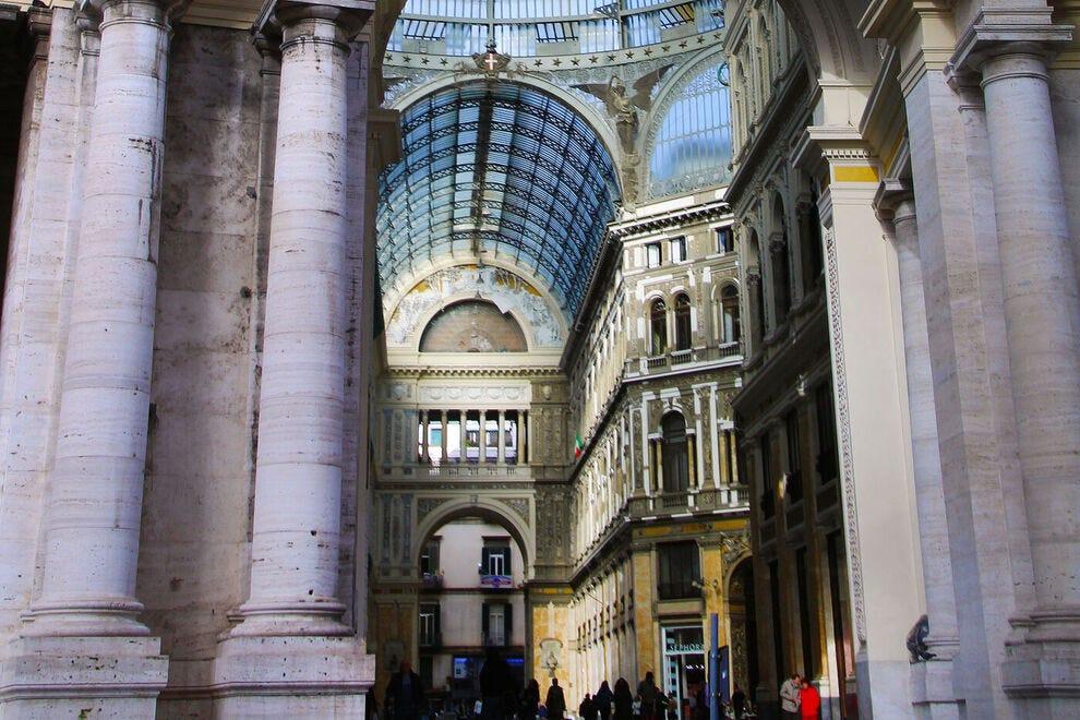 The Galleria Umberto I, a popular Neapolitan shopping destination