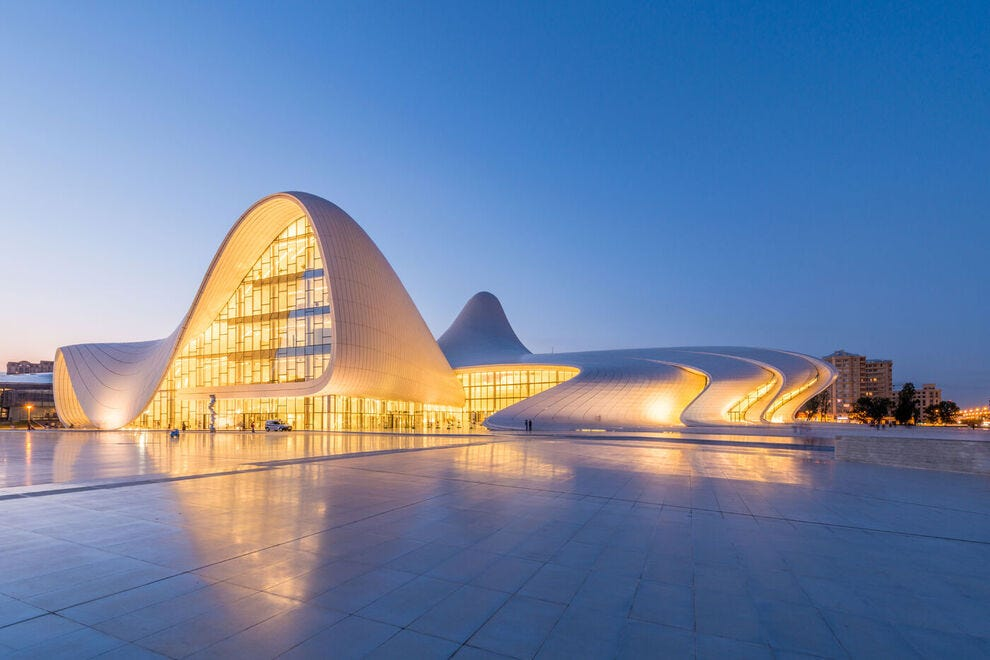 Heydar Aliyev Center designed by Zaha Hadid in Baku
