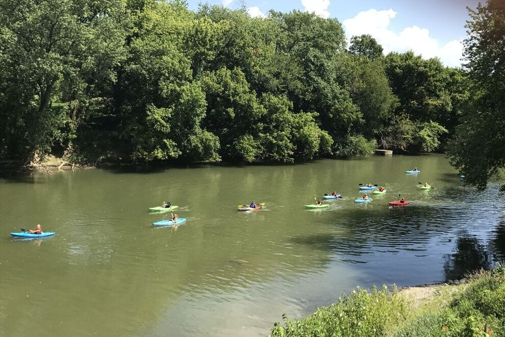 Kayaks on Conococheague Creek