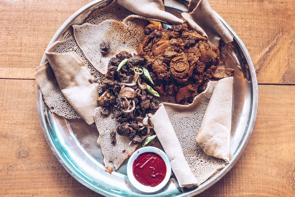 Injera is the national dish of Ethiopia