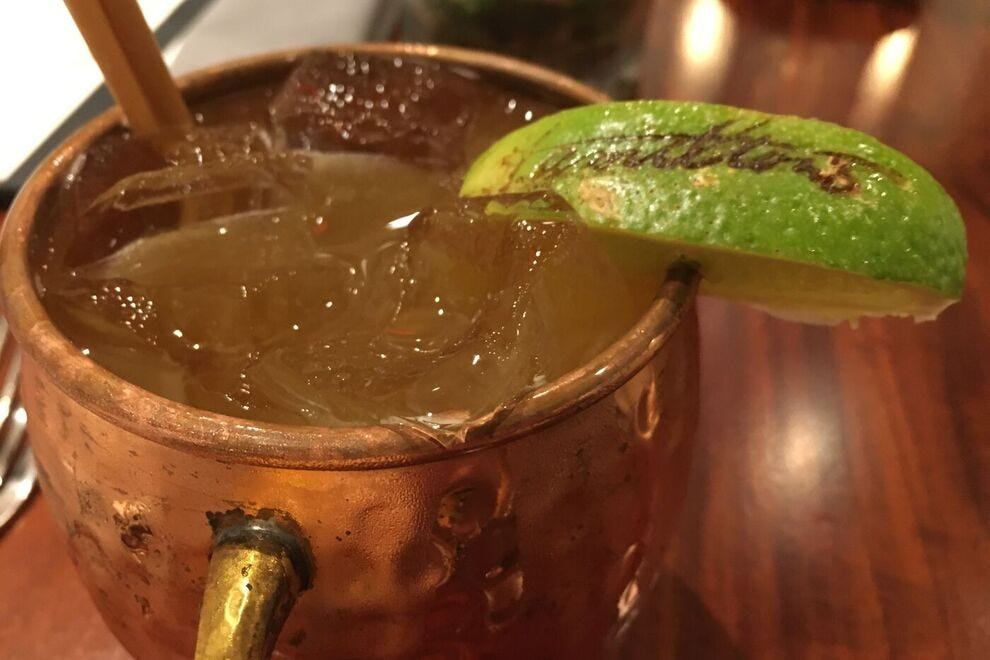 Try the Passion Mule cocktail at Hamilton's