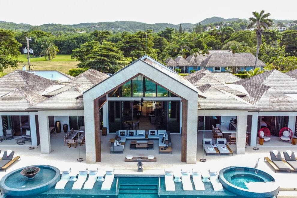 In Jamaica, Oceans 8 Villa at The Tryall Club is a mega-villa with six bedrooms, six bathrooms and butler service