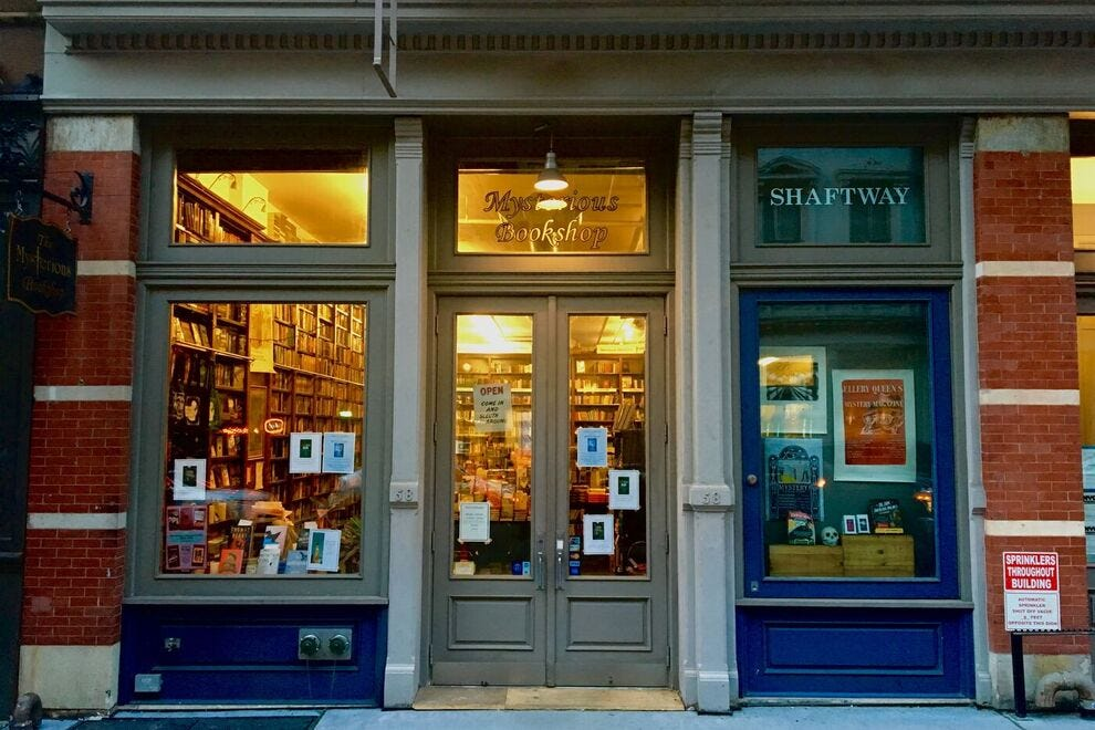 The Mysterious Bookshop in NYC