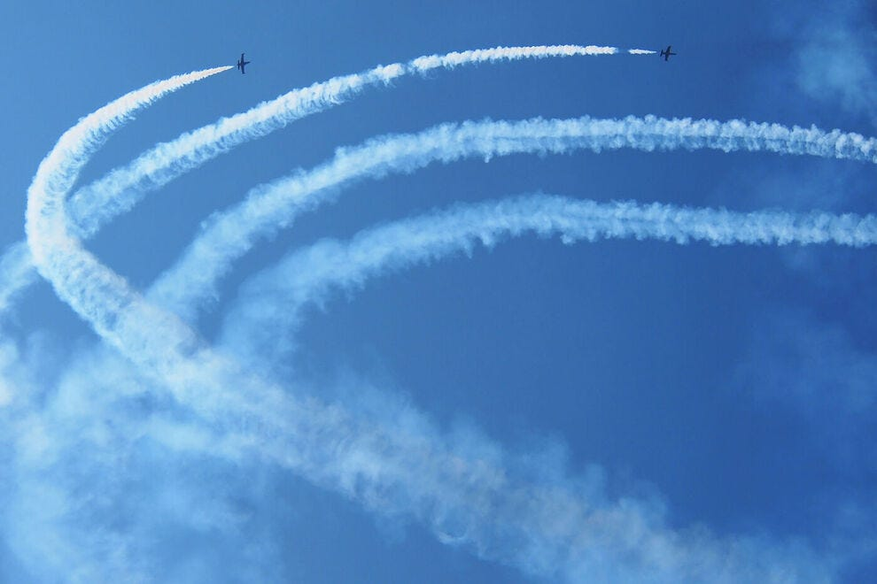 These air shows let aviation enthusiasts get up close and personal with flying machines