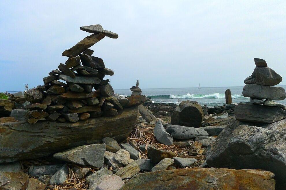 Rocky beach on Peaks Island