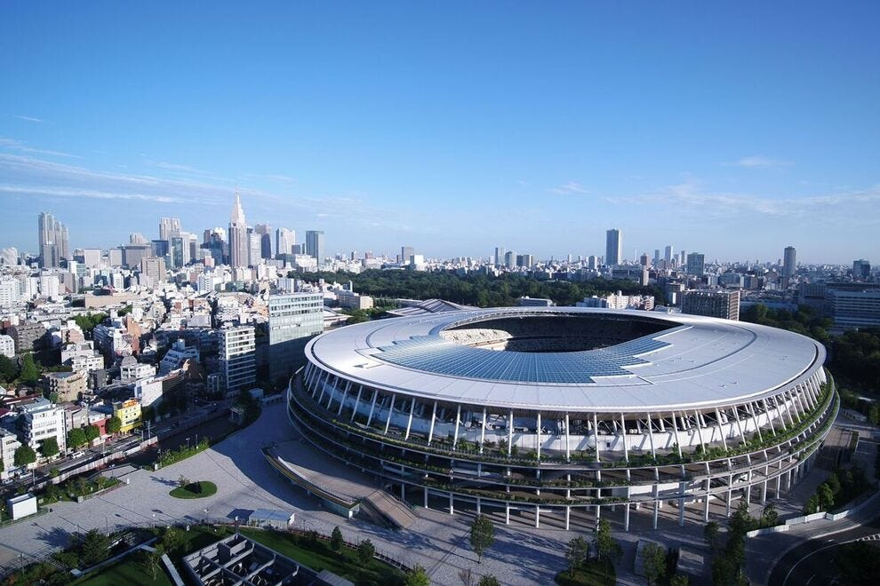 The new Olympic Stadium (also known as the National Stadium), will serve as the Olympic's main venue for opening and closing ceremonies, as well as several athletic events