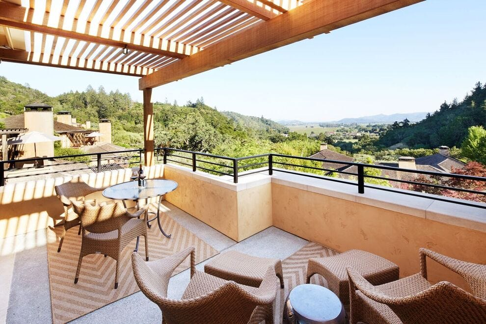 Wine country hotels make it easy to relax after a day of exploring and taste testing