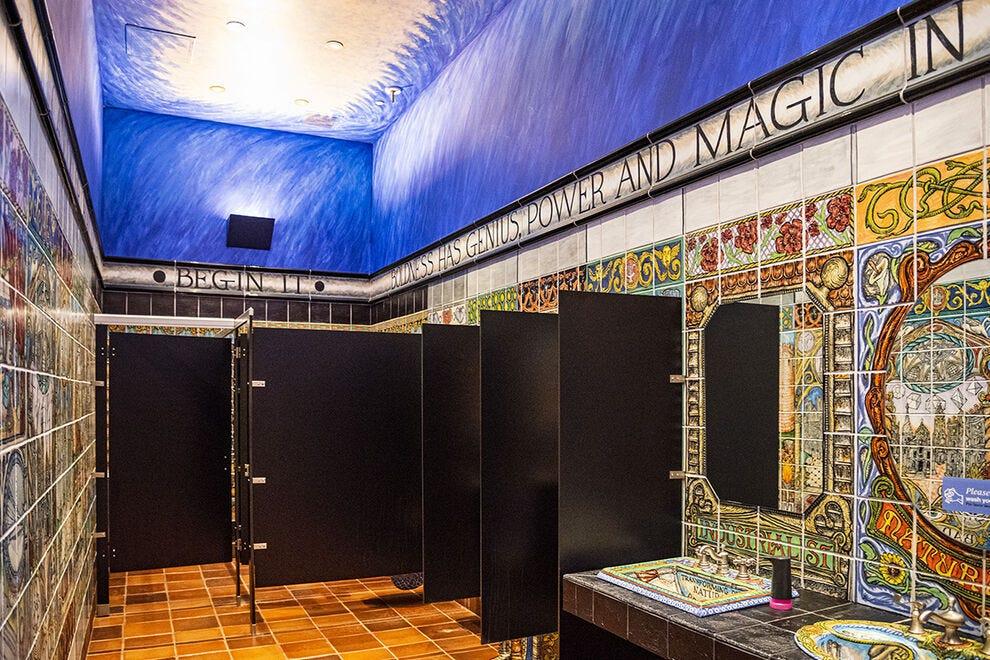 Even the restrooms at John Michael Kohler Arts Center are works of art