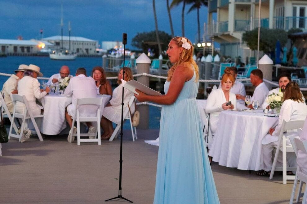 The Feté en Blanc is an all-white affair on the water, complete with an opera singer