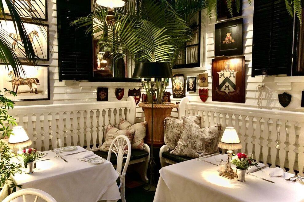 The Terrace Restaurant at The Charlotte Inn in Edgartown on Martha's Vineyard