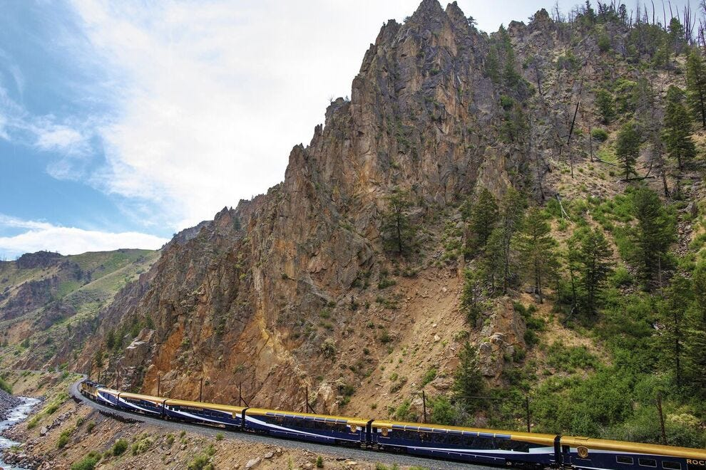 Explore the spectacular scenery of the Wild West on this luxury train