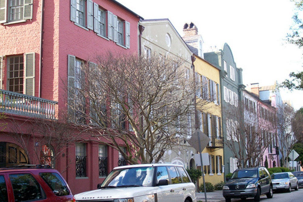 Rainbow row charleston attractions review 10best for Charleston row houses