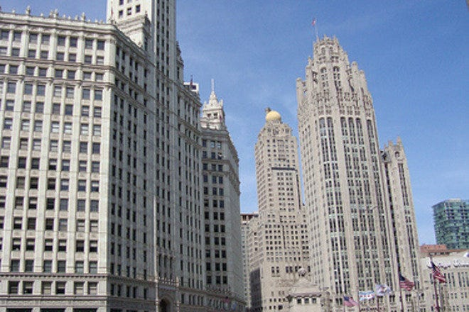 Chicago's Wrigley Building is part of the Magnificent Mile.