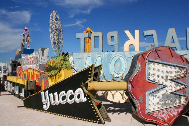 Neon Museum and Boneyard is a tribute to the historic art form of Las Vegas