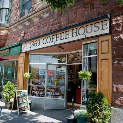1369 Coffeehouse in Boston, MA serves breakfast, lunch, coffee & tea.