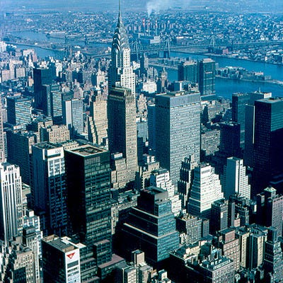 Chrysler Building from Empire State Building (1965)