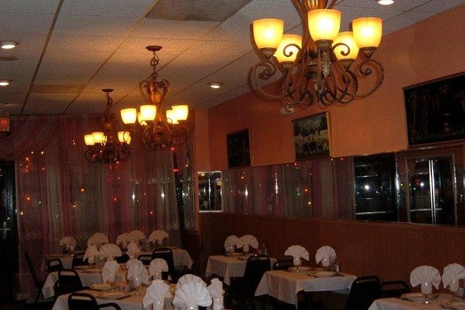 The dining room of Aatish Indian restaurant in Washington, DC