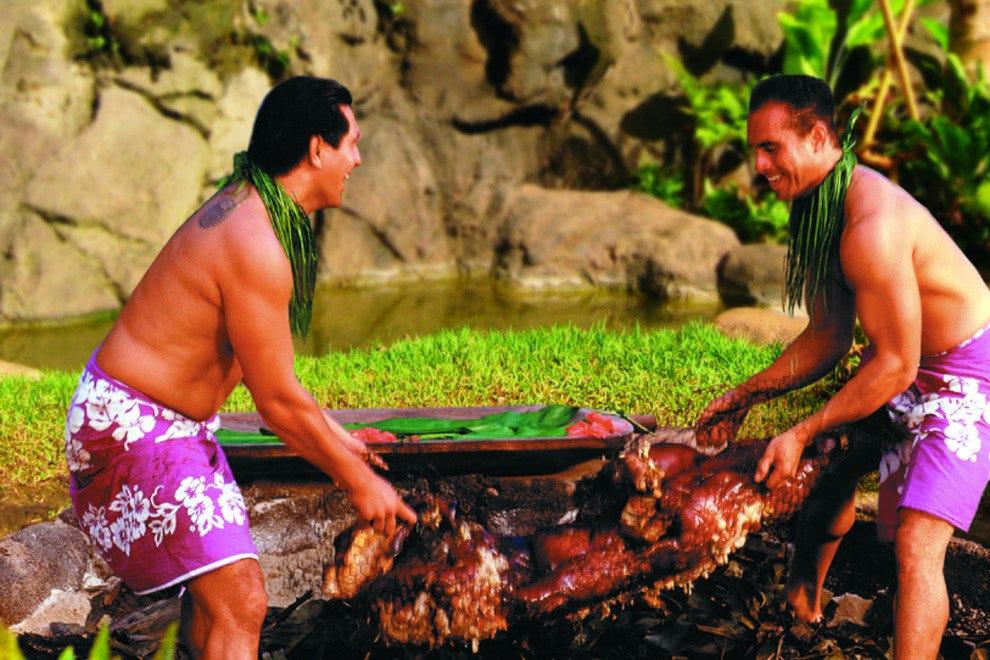 Hawaiian on Polynesian Cultural Center Buffet