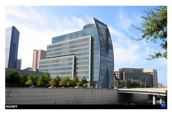 Dallas Tourist Attractions - Dallas City Hall Architecture X3
