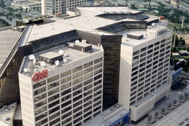 Aerial view of CNN
