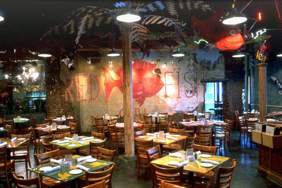 Red fish grill new orleans restaurants review 10best for Bourbon street fish